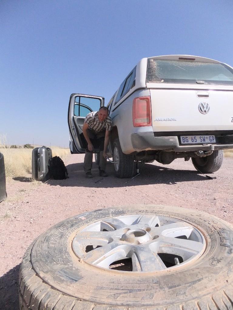 resa till Namibia punktering