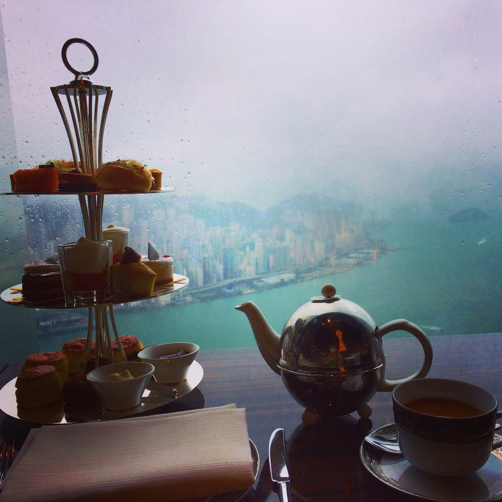 Afternoon Tea i Hong Kong på 103:e våningen