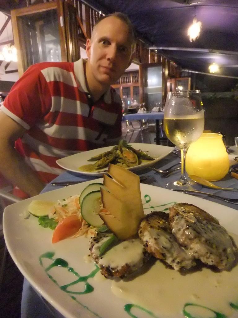 En av våra favoritrestauanger på Pralin, Seychellerna. Vilken tonfisk! Seychellerna eller Zanzibar