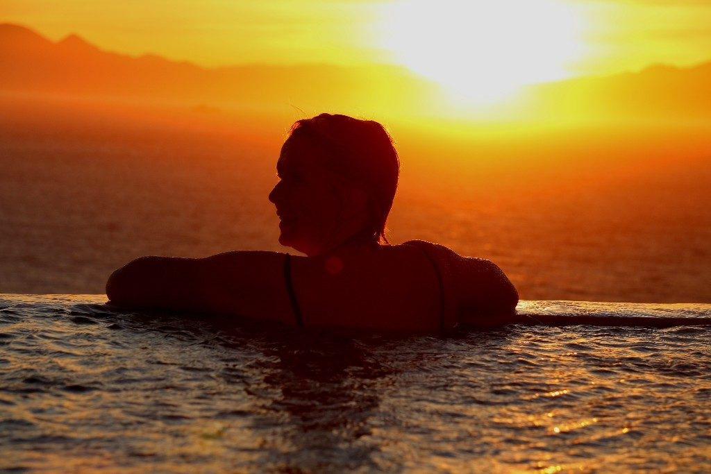 solnedgångar i Kapstaden