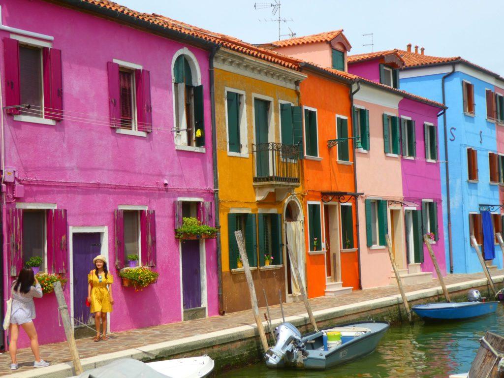 Gardasjön och Venedig; Burano
