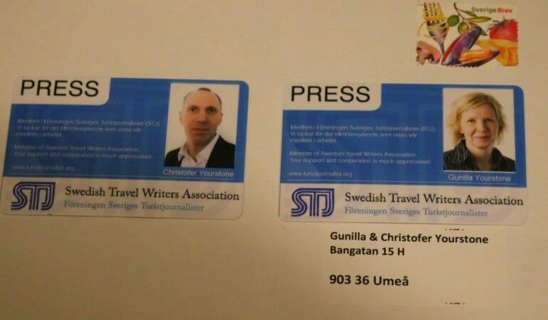 Swedish Travel Bloggers, Sveriges Turistjournalister, ett litet kuvert med posten och Nobelservisen – en måndagskväll i Stockholm