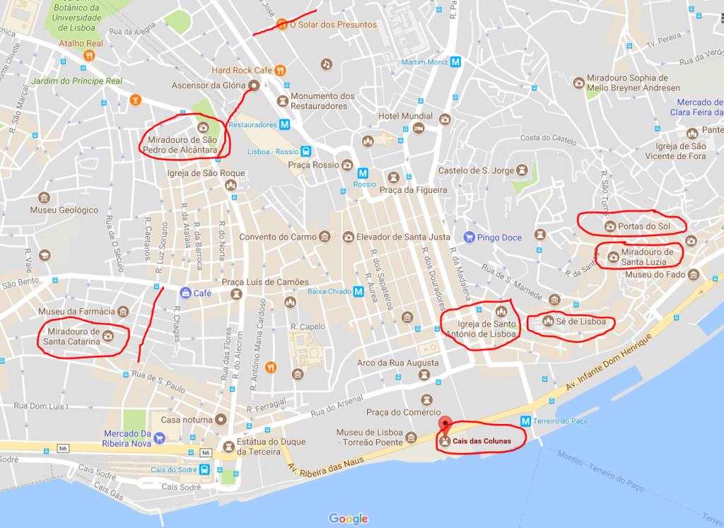 Lissabons bästa utsiktspunkter