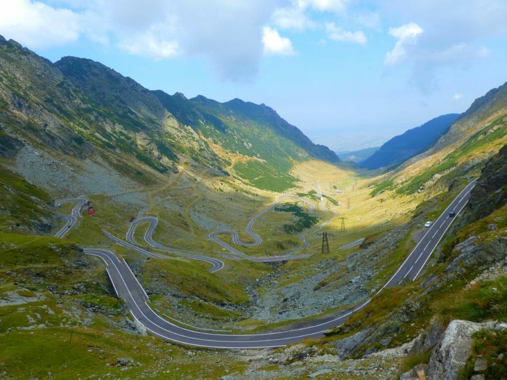 världens vackraste vägar Transfaragan Road