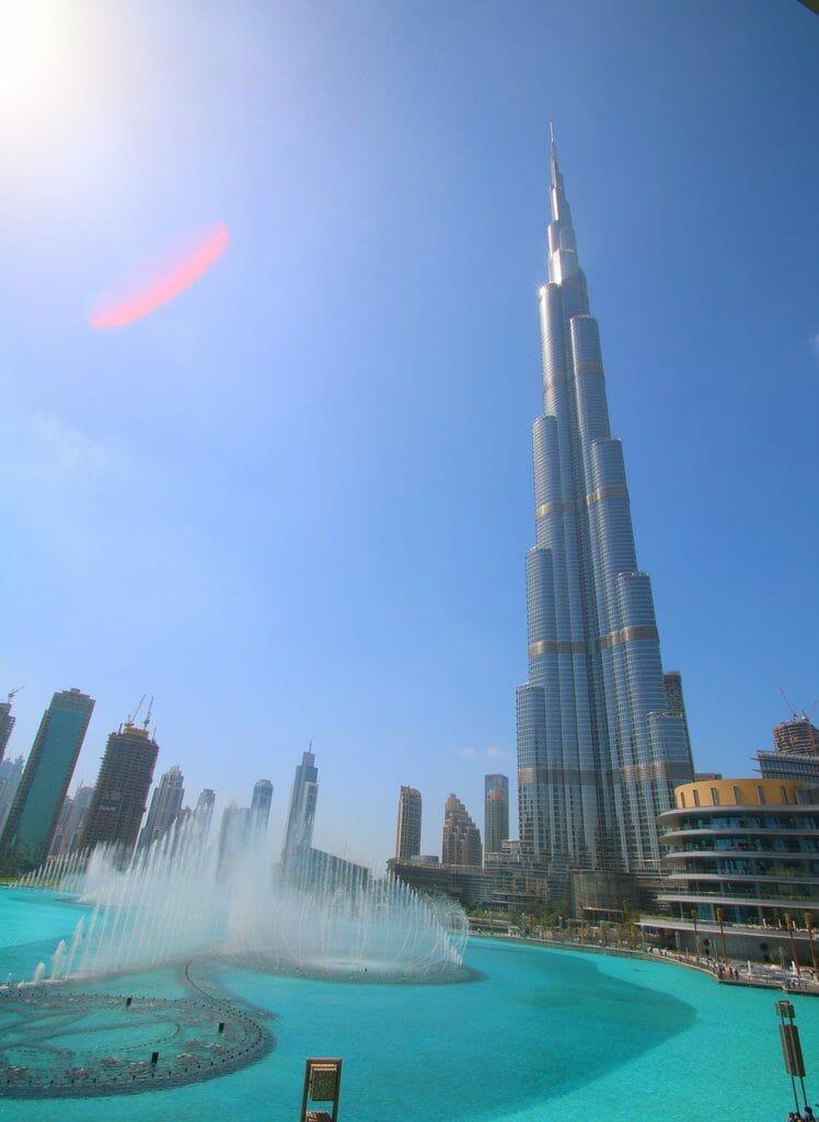 Världens högsta byggnader - burj khalifa