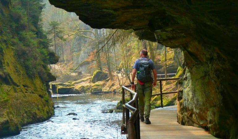 Vandring i Bohemian Switzerland i Tjeckien
