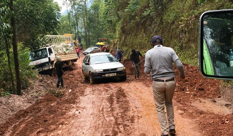 Vart tog vägen vägen? – på glid i Ugandas berg
