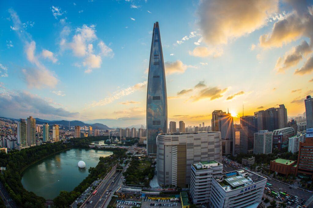 Världens högsta byggnader - lotte world tower