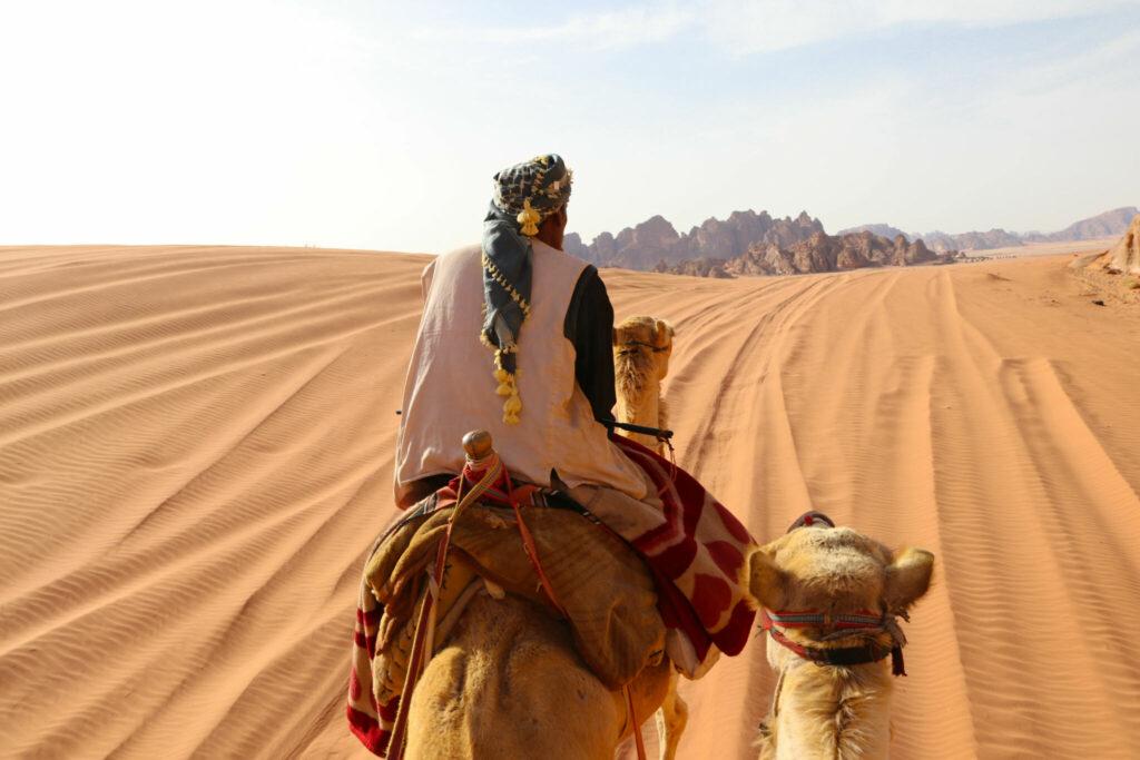 rida kamel i Wadi Rum