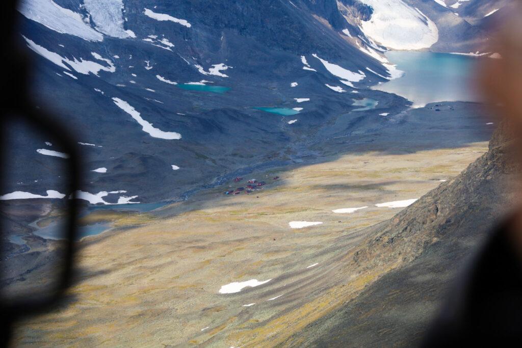 Helikopter till Kebnekaises topp