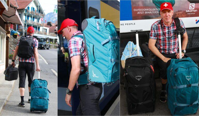 Bästa väskan för en tågluff? – Dessa använde vi och så här tyckte vi