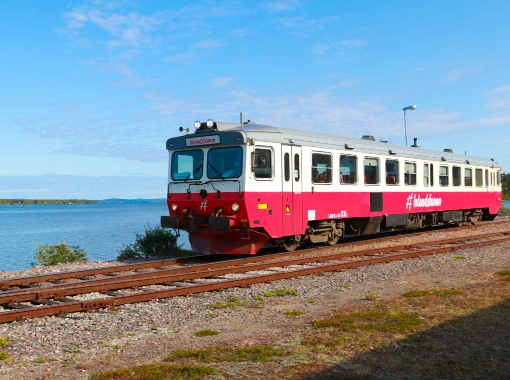 rutt i Lappland inlandsbanan