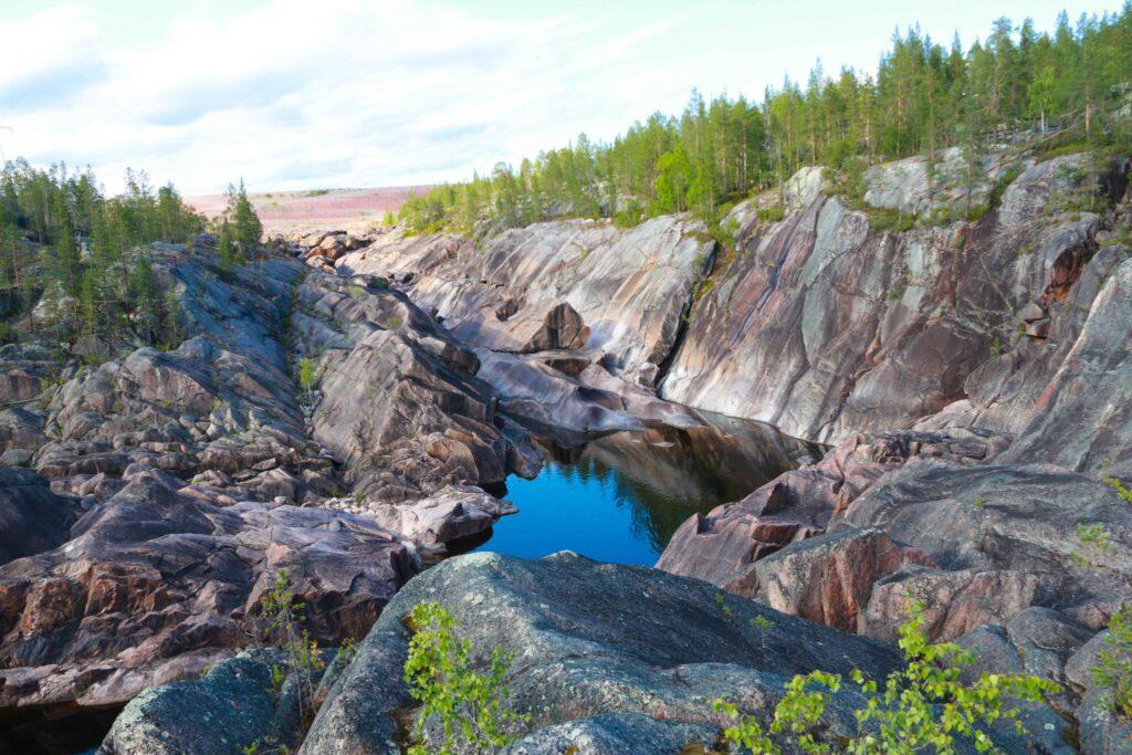 rutt i Lappland Harsprånget