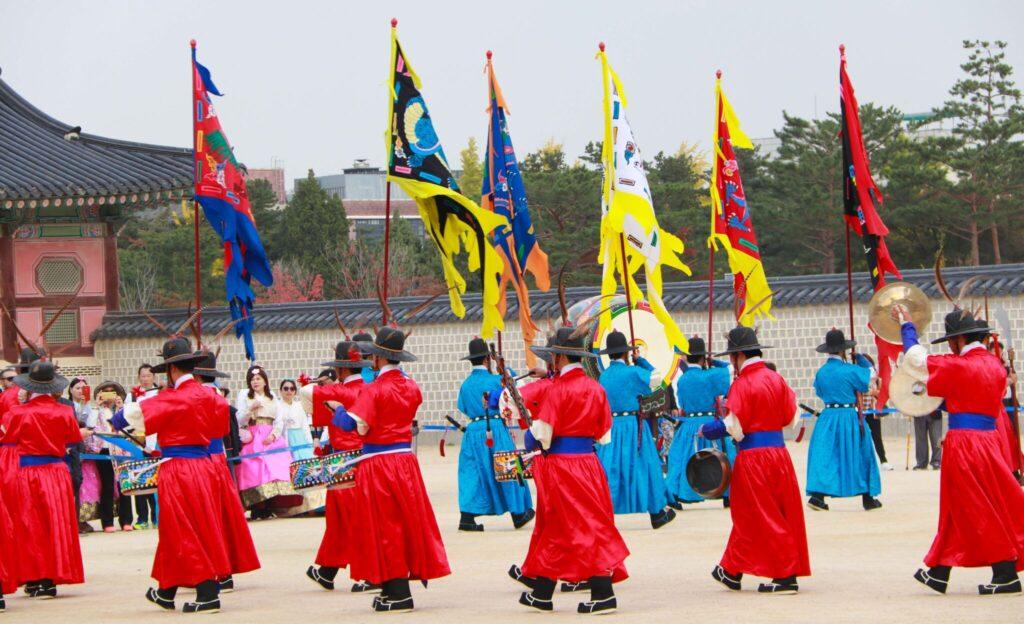 Palatsen i Seoul vaktavlösning