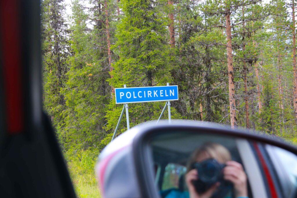 rutt i Lappland Polcirkeln