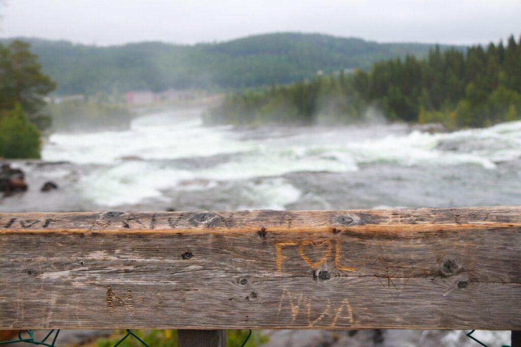 rutt i Lappland storforsen