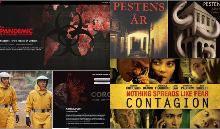 Böcker och filmer om pandemi – dessa har vi sett och läst