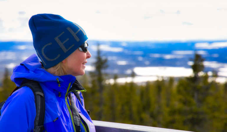 Åmliden, Västerbottens högsta punkt 551 möh – en nystart på skidkarriären och ett klurigt staket