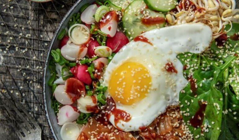 Recept på vegetarisk Bibimbap