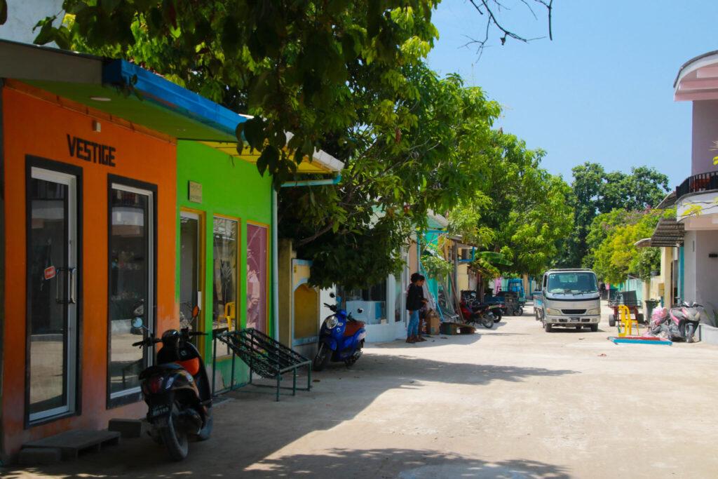 resort eller lokal ö på Maldiverna